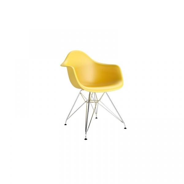 Krzesło P018 PP oliwkowe, chrom nogi DK-48990