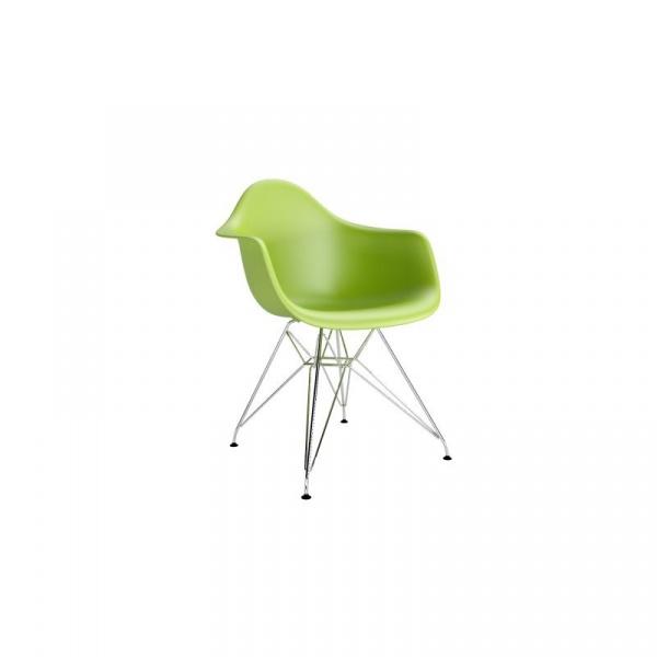 Krzesło P018 PP zielone, chromowane nogi DK-48989