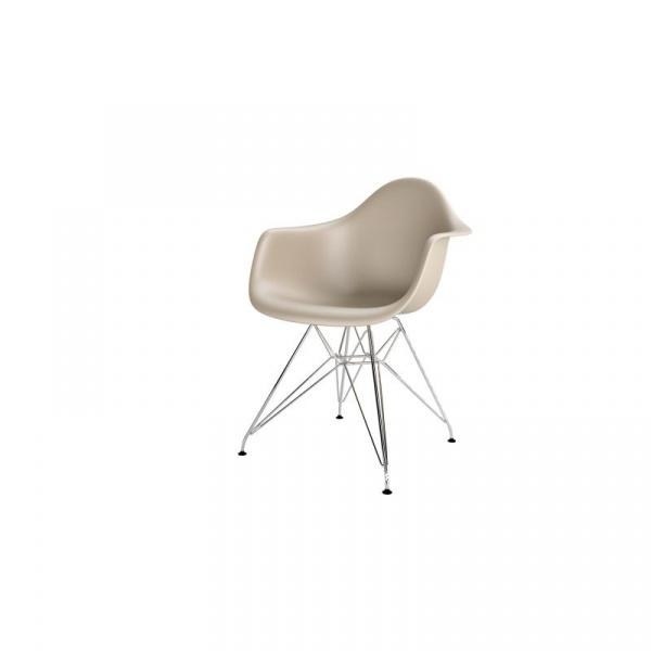 Krzesło P018PP beżowe, chrom nogi HF DK-48987