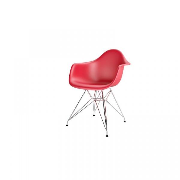 Krzesło P018PP czerwone chrom nogi HF 5902385709637