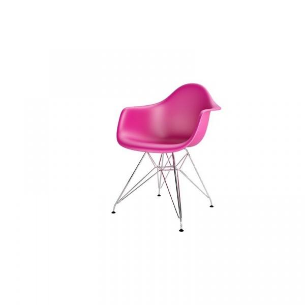 Krzesło P018PP różowe chromowane nogi HF 5902385716772