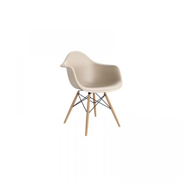 Krzesło P018W PP beige, drewniane nogi 5902385703598