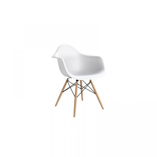Krzesło P018W PP białe, drewniane  nogi HF DK-41293