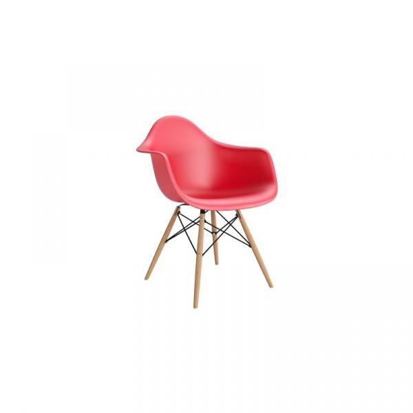 Krzesło P018W PP czerwone, drewniane nogi HF DK-62276