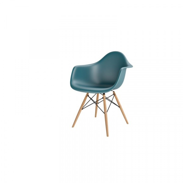 Krzesło P018W PP navy green drewniane  nogi DK-42271