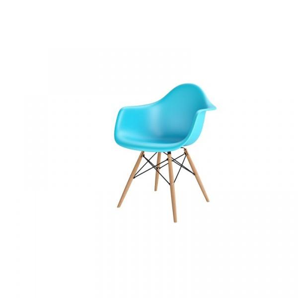 Krzesło P018W PP ocean blue, drewniane nogi HF 5902385709484