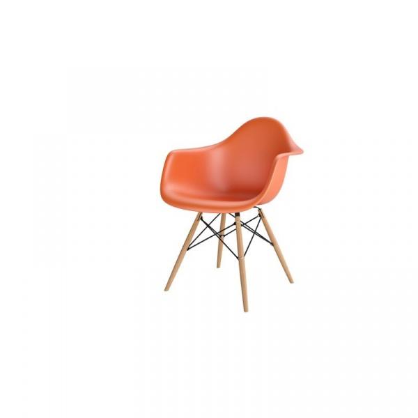 Krzesło P018W PP pomarańczowy, drewniane nogi HF 5902385710299
