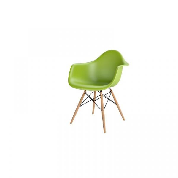 Krzesło P018W PP zielony, drewniane nogi HF 5902385709286