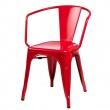 Krzesło Paris Arms czerwone inspirowane Tolix DK-41349