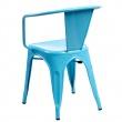Krzesło Paris Arms niebieskie inspirowan e Tolix DK-41357