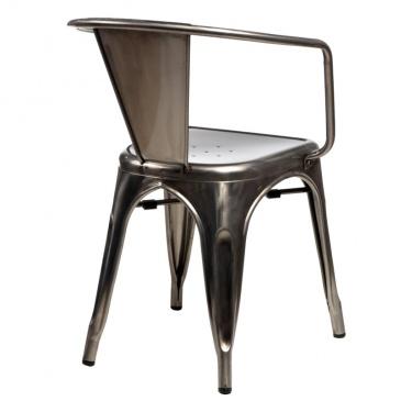 Krzesło D2 Paris Arms w kolorze metalu