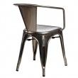 Krzesło Paris Arms w kolorze metalu insp irowane Tolix DK-41333