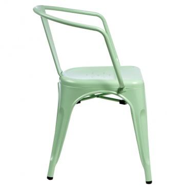 Krzesło D2 Paris Arms zielone
