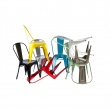 Krzesło Paris białe inspirowane Tolix 5902385711258