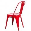 Krzesło Paris czerwone inspirowane Tolix DK-41309