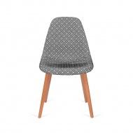Krzesło Plush Splot King Home Czarno-białe