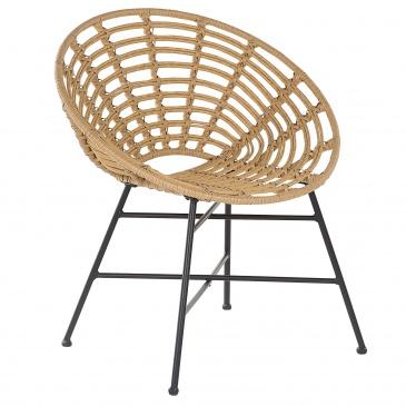 Krzesło rattanowe jasnobrązowe ACERRA