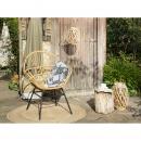 Krzesło rattanowe jasnobrązowe BRESSO