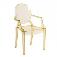 Krzesło Royal Jr. żółty transparent
