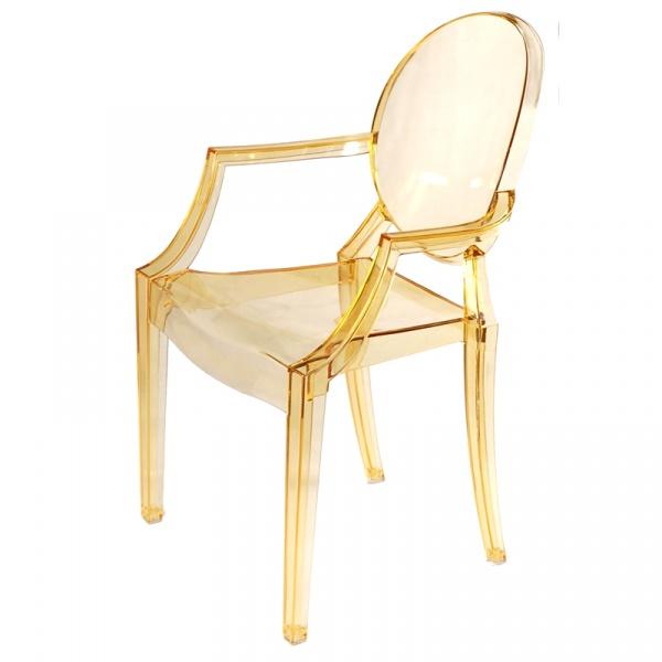 Krzesło Royal żółty transparent DK-5440