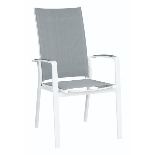 Krzesło rozkładane 67x58x104 cm Miloo Home Laura szare ML5636