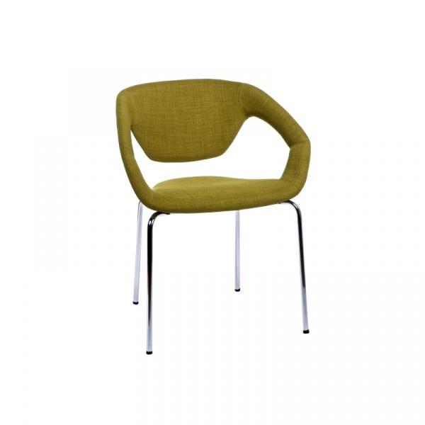 Krzesło Space tapicerowane oliwkowe DK-41278