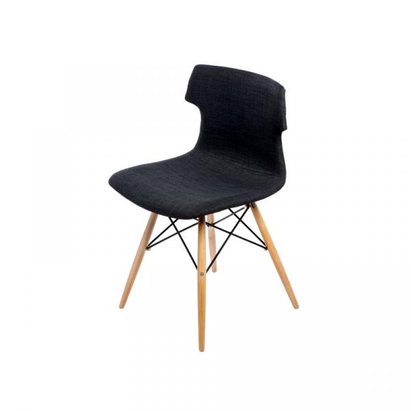 Krzesło Techno DSW tapicerowane grafitow e DK-41133