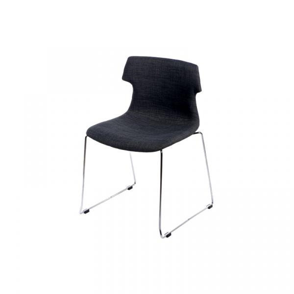 Krzesło Techno SL tapicerowane grafitowe DK-41169
