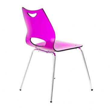 Krzesło UNIQUE Wave fioletowe