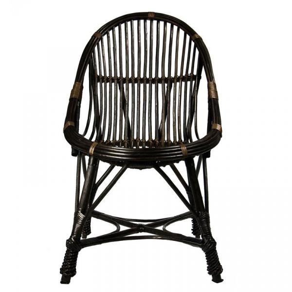 Krzesło wiklinowe Gie El ciemnobrązowy FST0080
