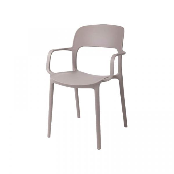 Krzesło z podłokietnikami Flexi mild gre y DK-40520