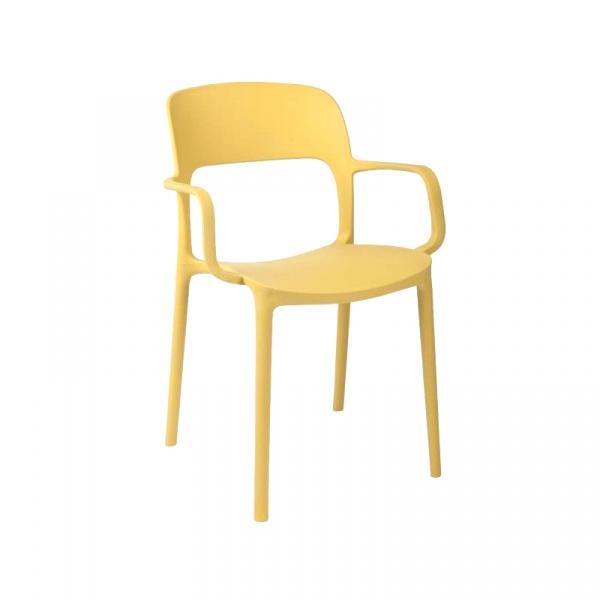 Krzesło z podłokietnikami Flexi oliwkowe DK-40524