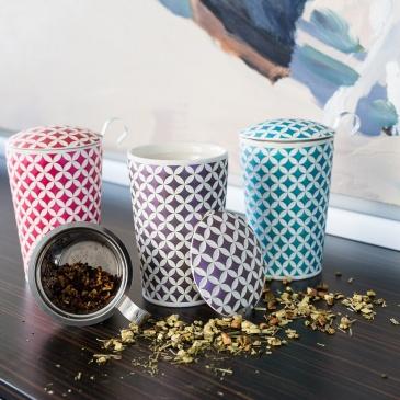 Kubek 350 ml z zaparzaczką do herbaty Eigenart Koniczyna fioletowy EA-3567611
