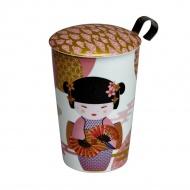Kubek 350 ml z zaparzaczką do herbaty Eigenart Little Geisha różowy EA-3673411