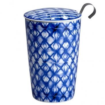 Kubek 350 ml z zaparzaczką do herbaty Eigenart Mozaika indigo EA-3634512