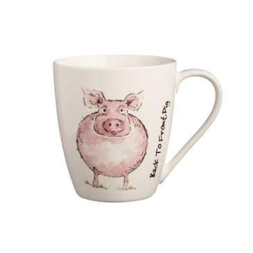 Kubek 350ml Price&Kensington Back To Front Pig biały