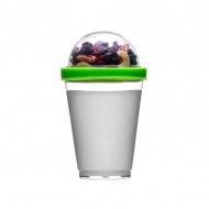 Kubek do jogurtu z pojemnikiem na musli 0,3 l Sagaform Fresh zielony