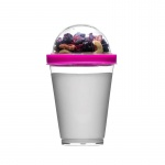 Kubek do jogurtu z pojemnikiem na musli 0,3 l Sagaform Fresh różowy