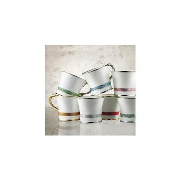 Kubek do kawy z kryształkami Swarovskiego (platyna)