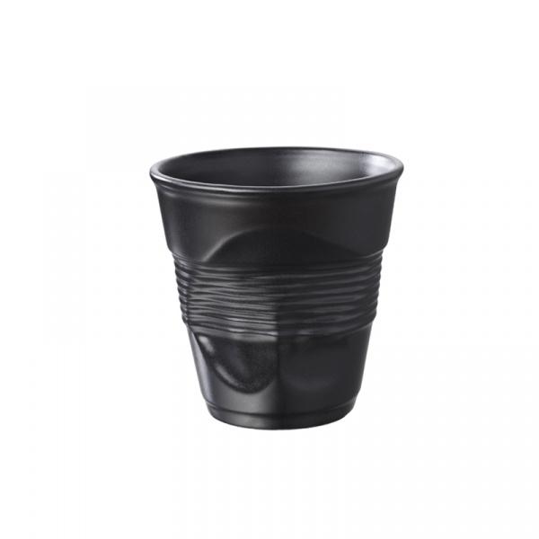 Kubek gnieciony śniadaniowy 0,33 l Revol Froissee czarny matowy RV-636405-6