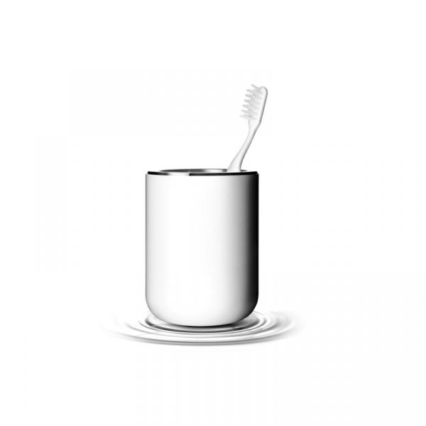 Kubek na szczoteczkę do mycia zębów Menu Bath biały 7700609