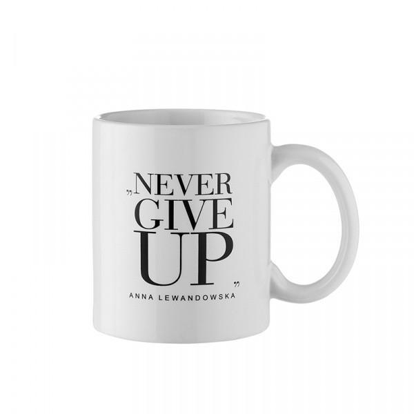 "Kubek ""Never Give Up"" 300 ml Healthy Plan By Ann biały - Anna Lewandowska KB002"