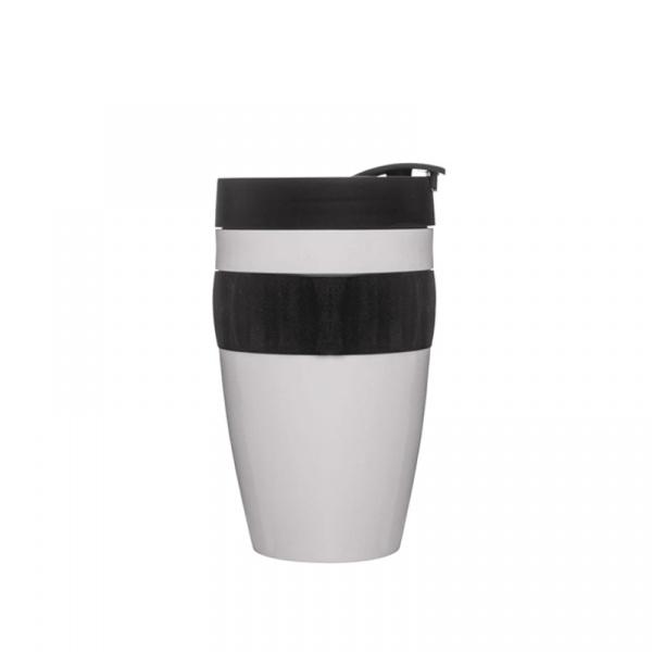 Kubek plastikowy 0,4 l Sagaform Cafe biało-czarny SF-5017316