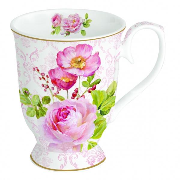 Kubek porcelanowy 400 ml Nuova R2S Floral Damask 375 FLDA