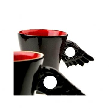 Kubek skrzydełko z dziurką Two People Black Angel
