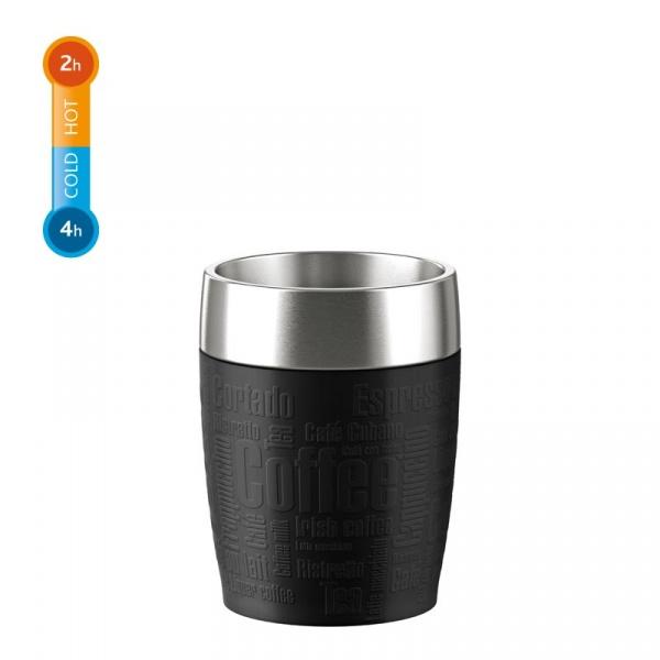 Kubek termiczny 0,2 L EMSA Travel Cup czarny  EM-514514