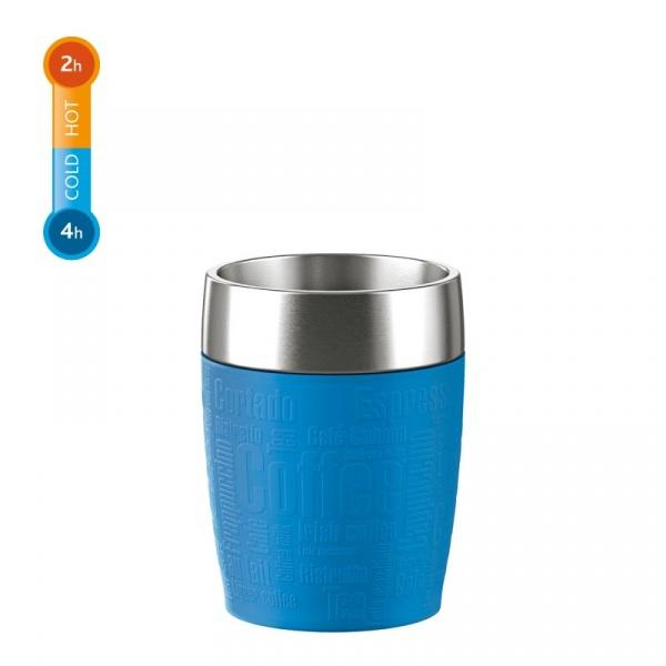 Kubek termiczny 0,2 L EMSA Travel Cup niebieski EM-514515