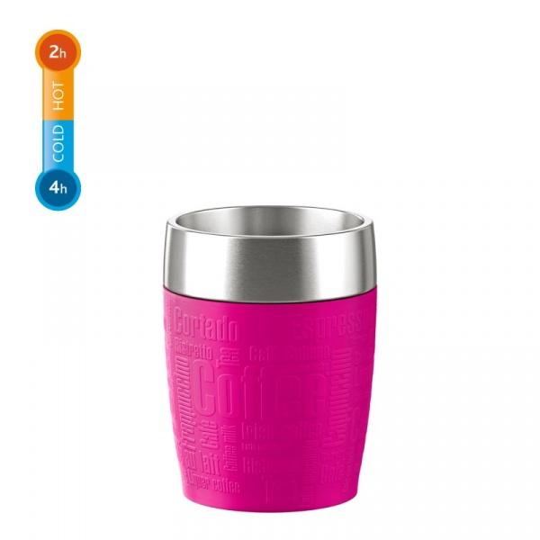 Kubek termiczny 0,2 l EMSA Travel Cup różowy EM-514517