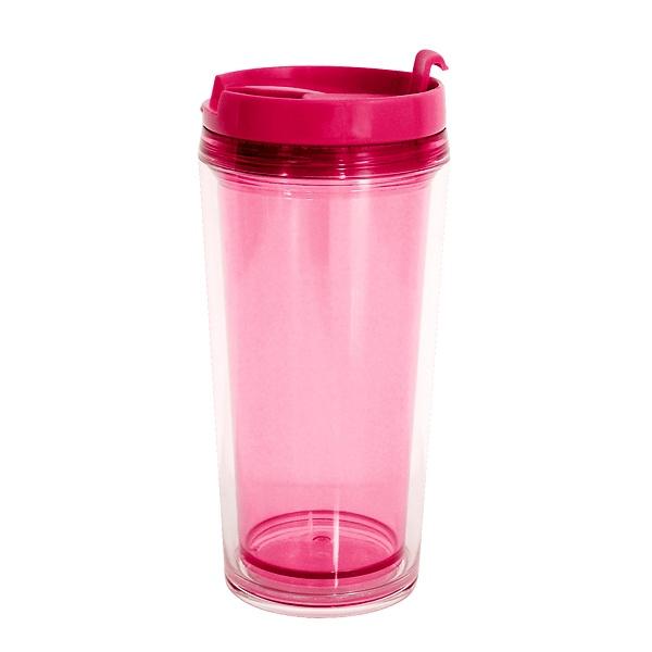 Kubek termiczny 0,45 l Zak! Designs Hot Beverage różowy 1213-8090