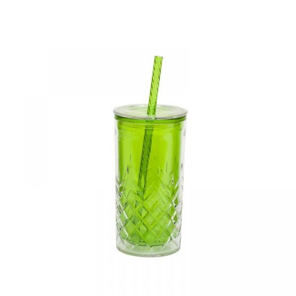Kubek termiczny + słomka 0,47 l Aladdin zielony AL-10-01850-017